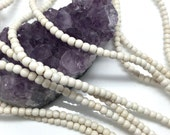 Lot of 5 strands 4mm White Howlite Turquoise Loose Spacer Beads Round 15.5 inch strand (BH5305)