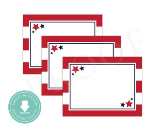 INSTANT DOWNLOAD 4th of July Food Labels (4th of July Party, Patriotic Baby Shower, Printable Food Labels, Stars and Stripes, July 4th)