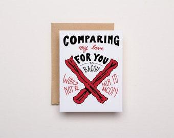 Bacon Love - Letterpress Card