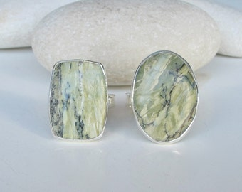 Green Opal Ring- October Ring- Unique Gemstone Ring- Green Stone Ring- OOAK Ring- Statement Ring- Ring for her- October Birthstone Ring