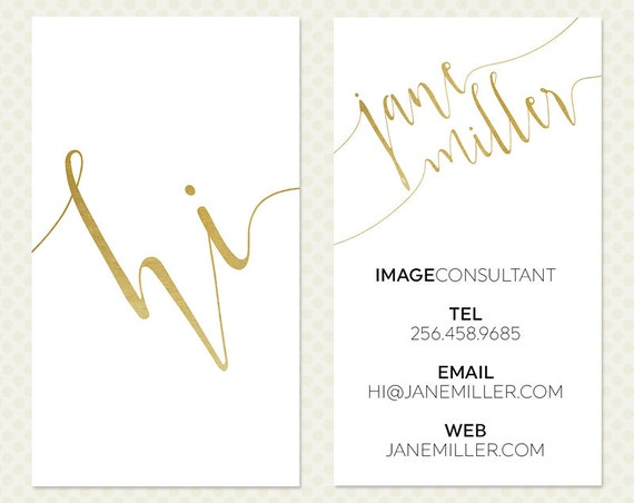 Black And White Calling Card Gold White Black Business Card