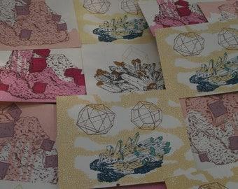 CRYSTAL postcard set