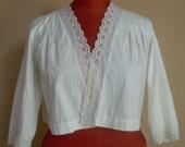 1940 old camisole, Edwardian petticoat, BELLE EPOQUE
