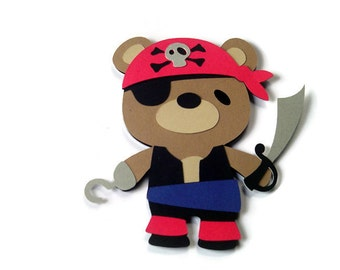 Teddy Bear Pirate , Cards for Children , Kids Cards , Pirate Card , Teddy Bear Card