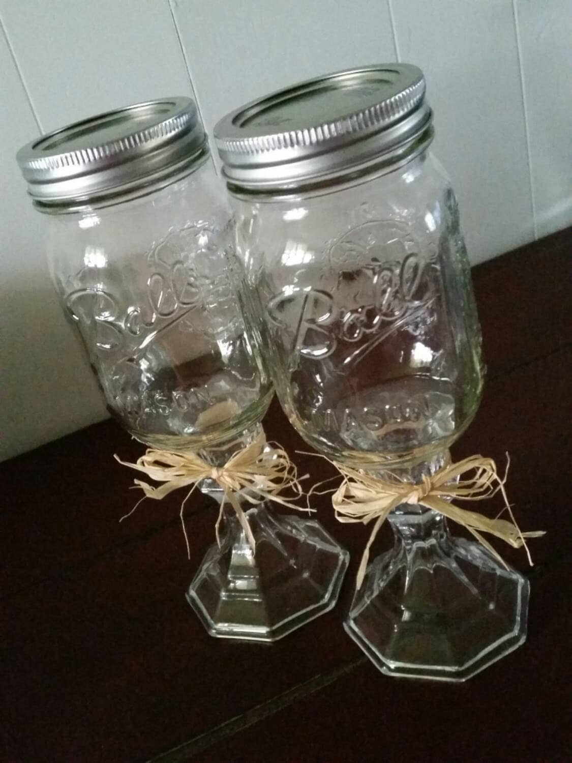 Clearance Redneck Mason Jar Wine Glass With By