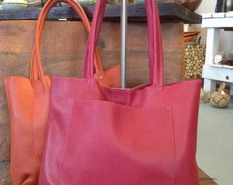 "Dark pink Kimmie tote bag is a great bag for carting all your essentials. ""SALE"""