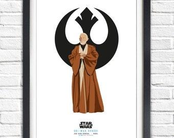Star Wars - Solo Series - Obi Wan Kenobi - 17x11 Poster