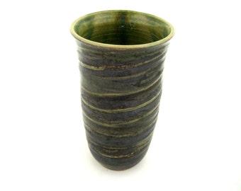 Artisan Pottery Vase,Green Pottery Vase, Handmade Pottery Vase, Organic Style Vase, Handcrafted Vase