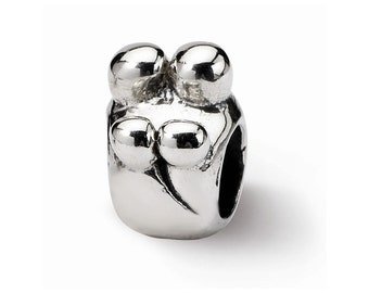 Sterling Silver Family of 4 Bead