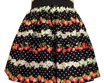 Polkadot Striped Lolita Full Skirt