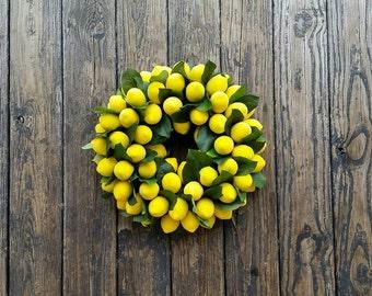 Sugared Lemon Wreath, Christmas Wreath