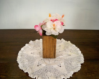 Country Wood Vase Centerpiece, Decorative Wood Center Piece, Wood Centerpiece, Wood Centerpiece,Table Center Piece, Rustic Wood Box