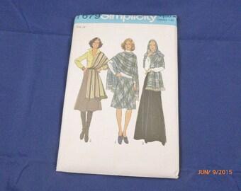 7670 Simplicity SZ 14 Pattern Misses Bias Skirt in Three Lengths & Stole Vintage 1976 Uncut