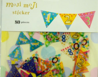A Pack of 80 pcs 10Designs Flake Stickers : Party Garland Number