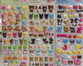 Japanese / Korean Puffy Sticker (Pick 1) Cute Animals