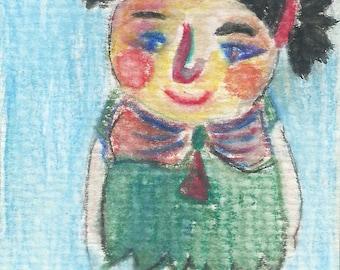 Original ACEO Watercolor Painting- My Older Sister
