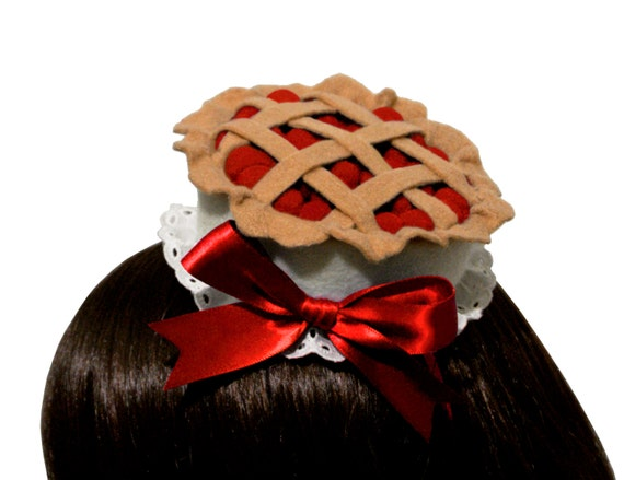 Sweet Cherry Pie Gothic and Lolita Hat or Headband - Made to Order