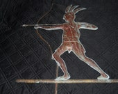RARE Molded Copper 20th Century Antique American Indian Weathervane Northern New York