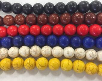 12mm howlite round beads, 32beads