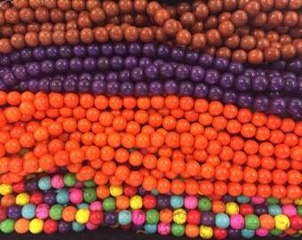 14mm howlite round beads, 24beads