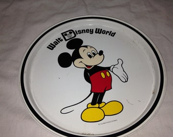 mickey mouse tin plate