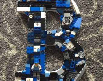 Custom toy brick  letter B,  made to order, nursery letter