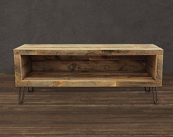 "Reclaimed Wood Media Console / TV Stand  (36"" Long)"