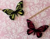 Butterfly Acrylic Necklace - Summer - Garden - Laser Cut