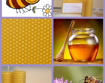Beeswax Candle making kit - inc 2 sheets of bees wax, wick and instructions- ideal for children