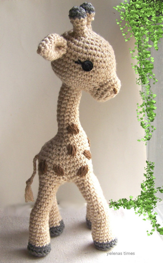 Crochet Pattern Baby Giraffe-Small Toy Crochet Pattern-Toy ...