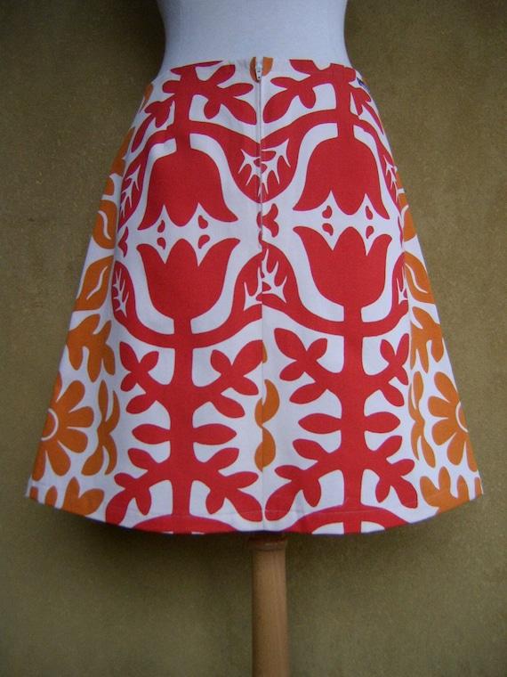 tissu ikea jupe trap ze mod le folkart orange rouge au large. Black Bedroom Furniture Sets. Home Design Ideas