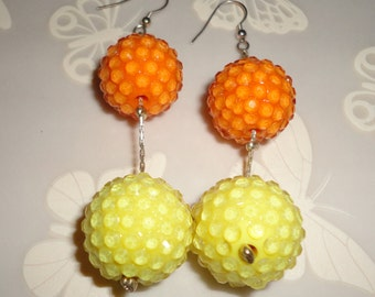 Orange and yellow Dangle Earrings*