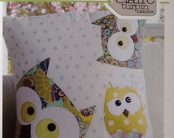 Family of Owls Applique Pattern & Instructions CT001 by Claire Turpin Designs