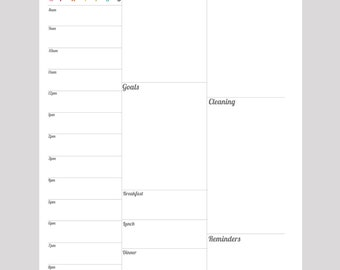 Appointment One-Page-Per-Day PRINTABLE Planner