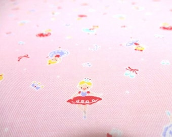 SALE Japanese Fabric LECIEN Ballerira Pink FQ
