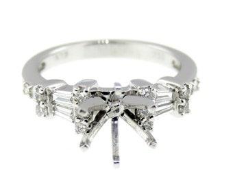 Beautiful White Gold Engagement Ring  100-00043
