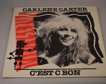 Vintage Record Carlene Carter: C'Est C Bon Album BFE-38663