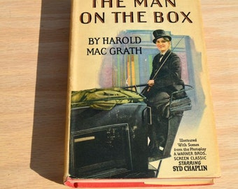 The Man on the Box by Harold Mac Grath 1904 Vintage Photoplay book with dust jacket starring Syd Chaplin