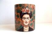Frida Khalo Mug. Ceramic cofee mug.