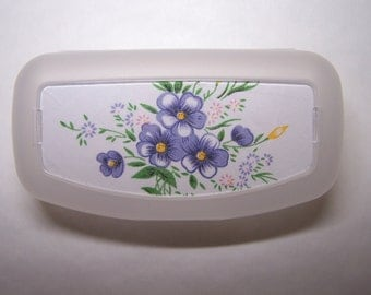 Purple Flower Eyeglass/Sunglass Case