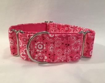 "1.5"" Pink Bandana Martingale Collar"