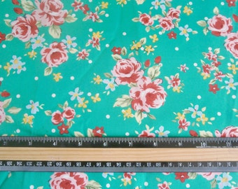 2 Yard Fabric vintage style 50s Floral pin up rockabilly