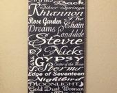 Stevie Nicks 12 x 24 Wood Canvas