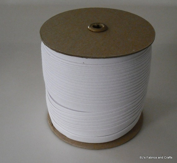 EXTRA WIDE Double Fold Bias Tape 1/2 WHITE 100 Yd