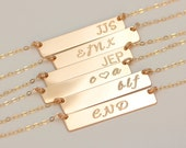 Gold Bar Initial Anklet, Personalized Monogram Bar Anklet, Rectangle Letter Charm Anklet, Modern Bridesmaid's Jewelry