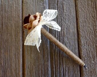 Rustic Wedding Guest Book Pen, Rustic Wedding, Bridal Shower Pen, Shabby Chic Pen.