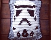 crochet made to order storm trooper pillow