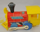 "Toy Train, 1970s Fisher Price Toy Train ""Toot Toot"" - 40+ Year Old Boys' Toy"
