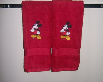 Mickey Mouse 2 Hand  Towels- Personalized