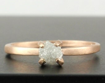 Goldring matt  Brushed gold ring | Etsy
